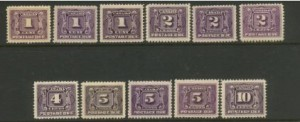 Canada Postage Due Set